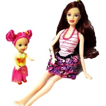 2 PCS Lot beautiful barbie Doll And Cute Little Kelly Dolls 2016 Fashion font b Toys