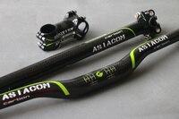 Asiacom 자전거 탄소 핸들 줄기 시트 포스트 27.2 30.8 31.6 350/400mm 자전거 탄소 핸들 바 31.8 mtb 줄기 자전거 부품