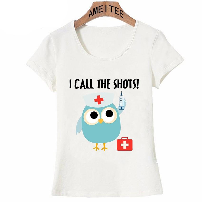 Aliexpress.com : Buy Fashion Women T Shirt Professions Owl ...