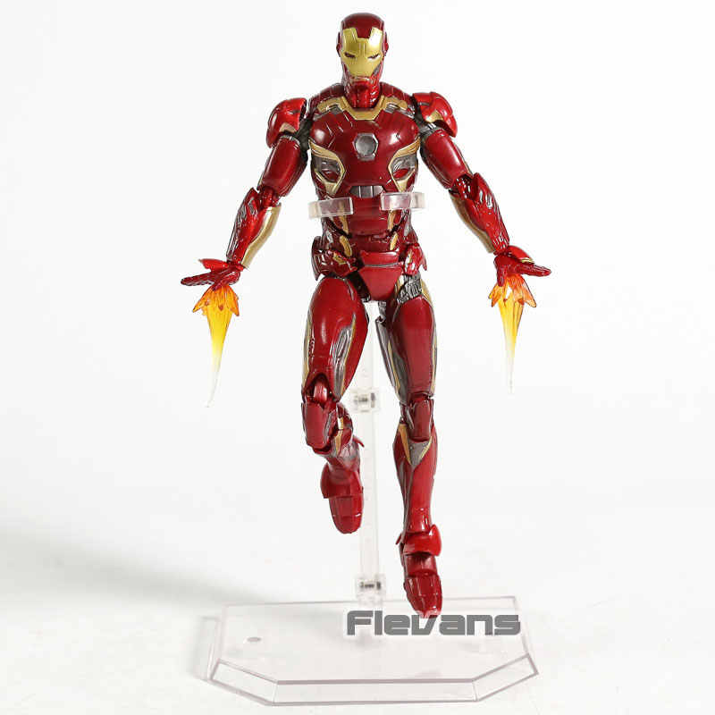 Mafex Avengers Infinity War Iron Man Mark 45 Pvc Action Figure Collectible Model Toy