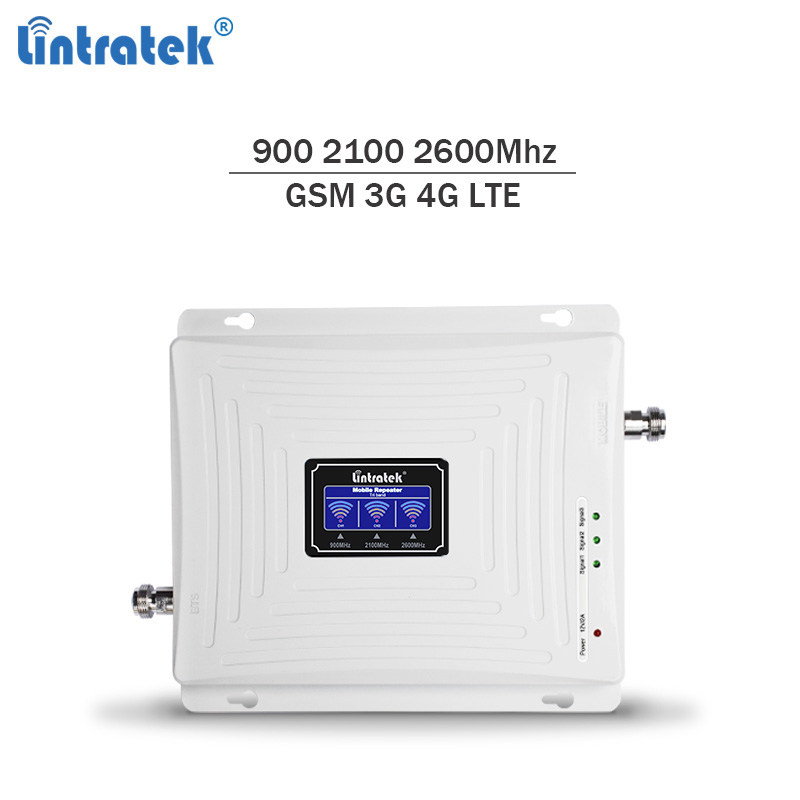 Lintratek NEW 2G 3G 4G Repeater 900 2100 2600Mhz Signal Booster 4G 2600 Repeater 3G 2100 Booster GSM 900 Tri Band Ampli #6