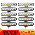 6.5 Inch 40W Led Light Bar Combo beam Led Work Light For Nissan QASHQAI Volkswagen Tiguan Ford Escape 4WD ATVB ATV Fog DRL Lamp
