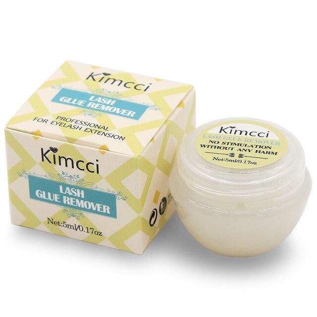 Kimcci profissional seguro chicote cola removedor cílios extensões ferramenta creme 5ml de alta qualidade fragrância cheiro cola removedor