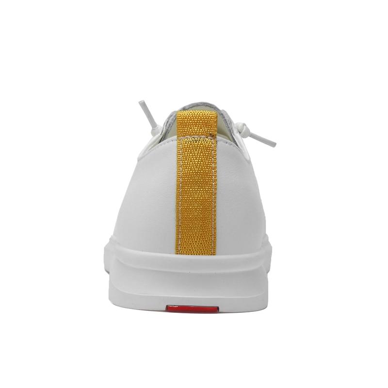 Non slip Designer Décontracté Confortables Plat Simple Nouveau blanc Talon Sneakers Noir Qualité Chaussures Véritable Doux Cuir Pour Homme Léger Supérieure Hommes En NO8n0mvw