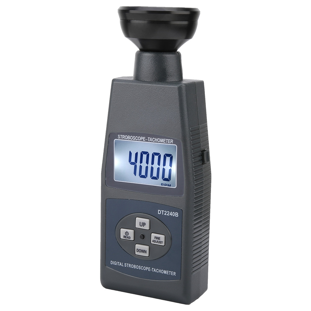 DT2240B Digital Non-Contact Flash Stroboscope Tachometer Revolution Meter JI