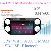Support 3G 2G RAM 16G ROM Quad Core For Android 4.4 Car Multimedia For VW Tiguan 2013 2014 2015 Auto Stereo Radio Player