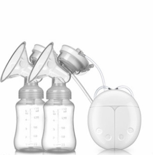 Double Electric breast pumps Powerful Nipple Suction USB Electric Breast Pump with baby milk bottle Cold Heat Pad Nippl in Manual Breast Pumps from Mother Kids