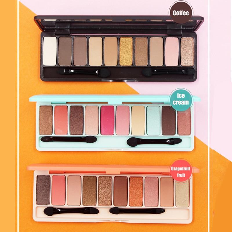 Novo 10 Colors Eye Shadow Palette Shimmer Matte Eyeshadow