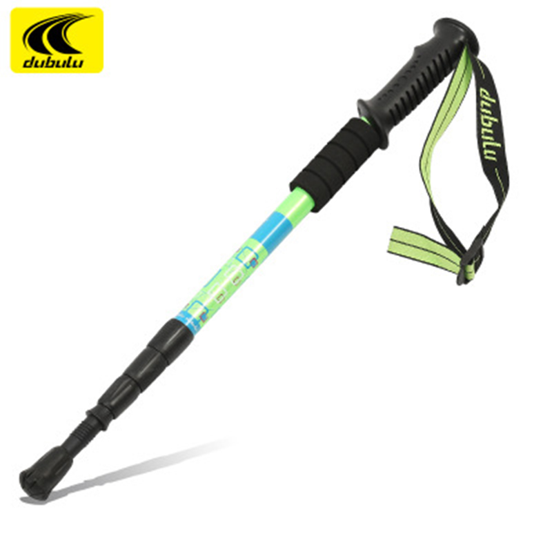 Image 3 - new trekking pole 4 section telescopic Aviation aluminum hiking sticks canes ultra light Nordic Walking Sticks telescopic-in Walking Sticks from Sports & Entertainment