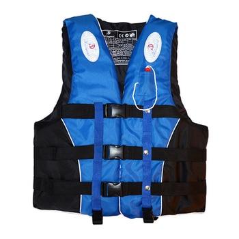 Swimming boating ski drifting life vest with whistle m-xxxl sizes water sports man kids jacket polyester adult life vest jacket
