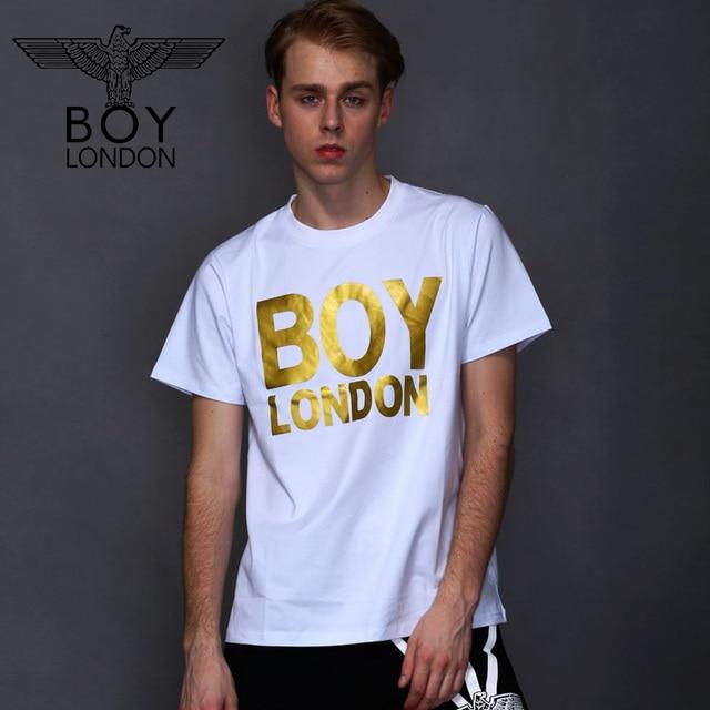 Boy Manga Hombre Oro Letra Del London Suelta De Impreso Camisetas rwTfr