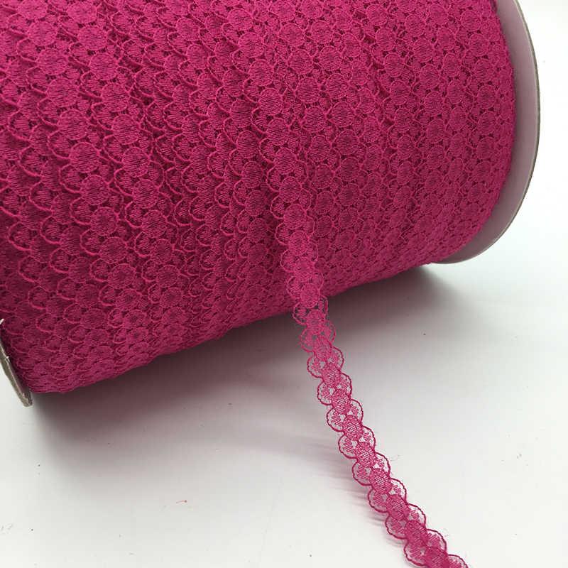 """10 yards/lot 5/8 """"(15mm) breit Tief rose Bilaterale handwerk Gestickte Net Lace Trim Band DIY Nähen & Rock Zubehör"""