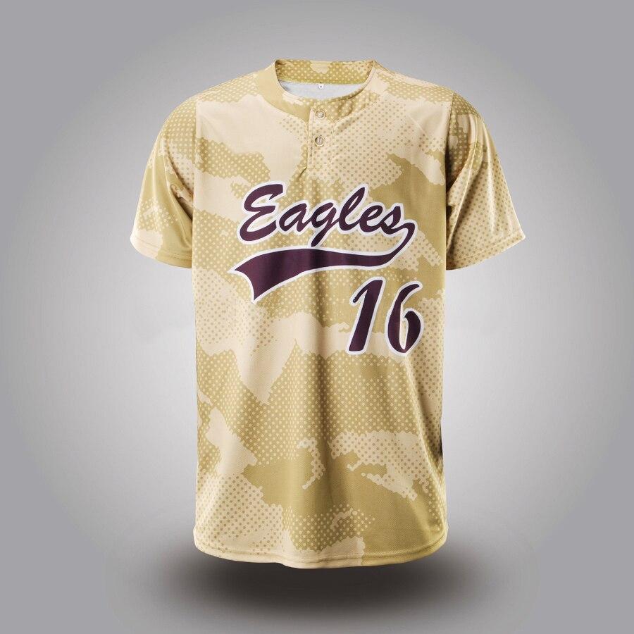 Custom Baseball Jersey T Shirt Stylish 16 Sublimation Yellow Jersey