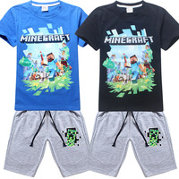 Kids Clothes T Shirt Shorts Children S Sets MineCraft Kids Clothing Sets T Shirt Short Boys