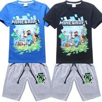 Kids Clothes T Shirt Shorts Children S Sets MineCraft Kids Clothing Sets T Shirt Short Boys