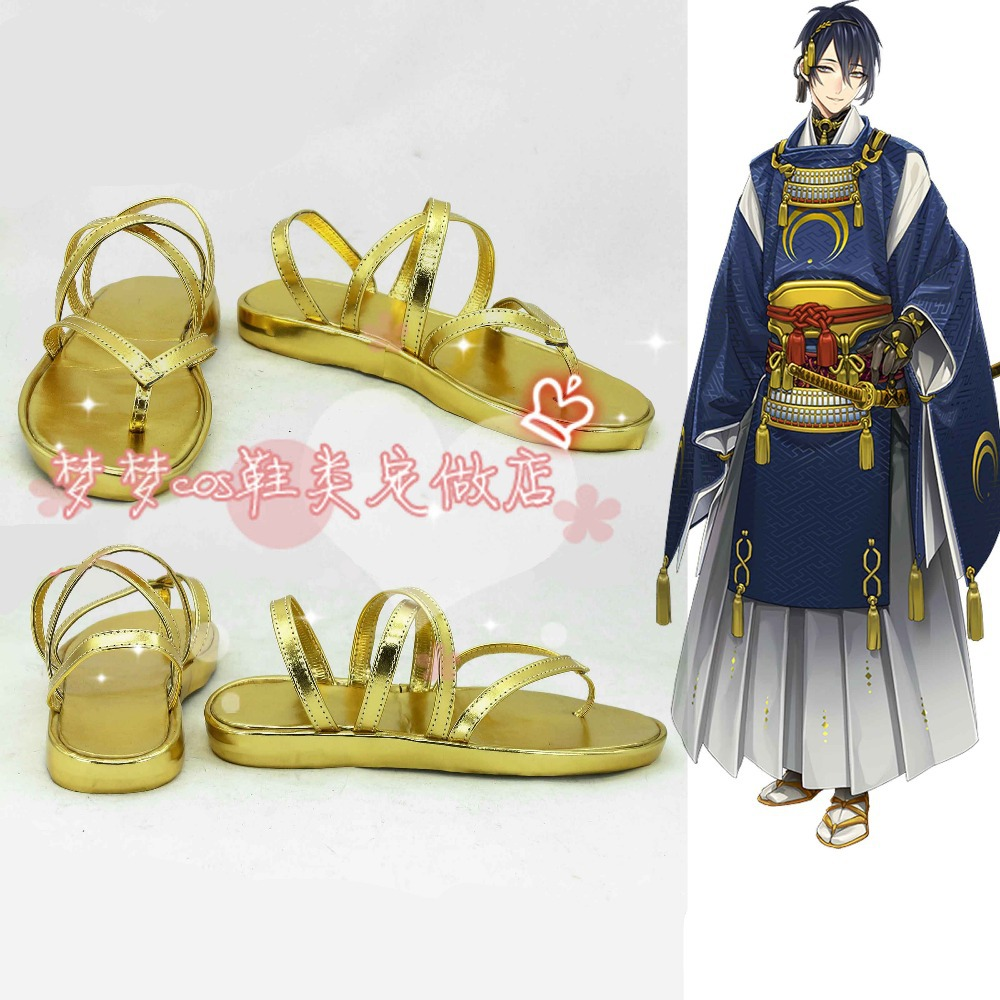 Luggage & Bags 2019 Fashion The Sword Dance Touken Ranbu Mikazuki Munechika Cosplay Shoes Anime Custom-made Cosplay Roman Style Sandals Diversified In Packaging