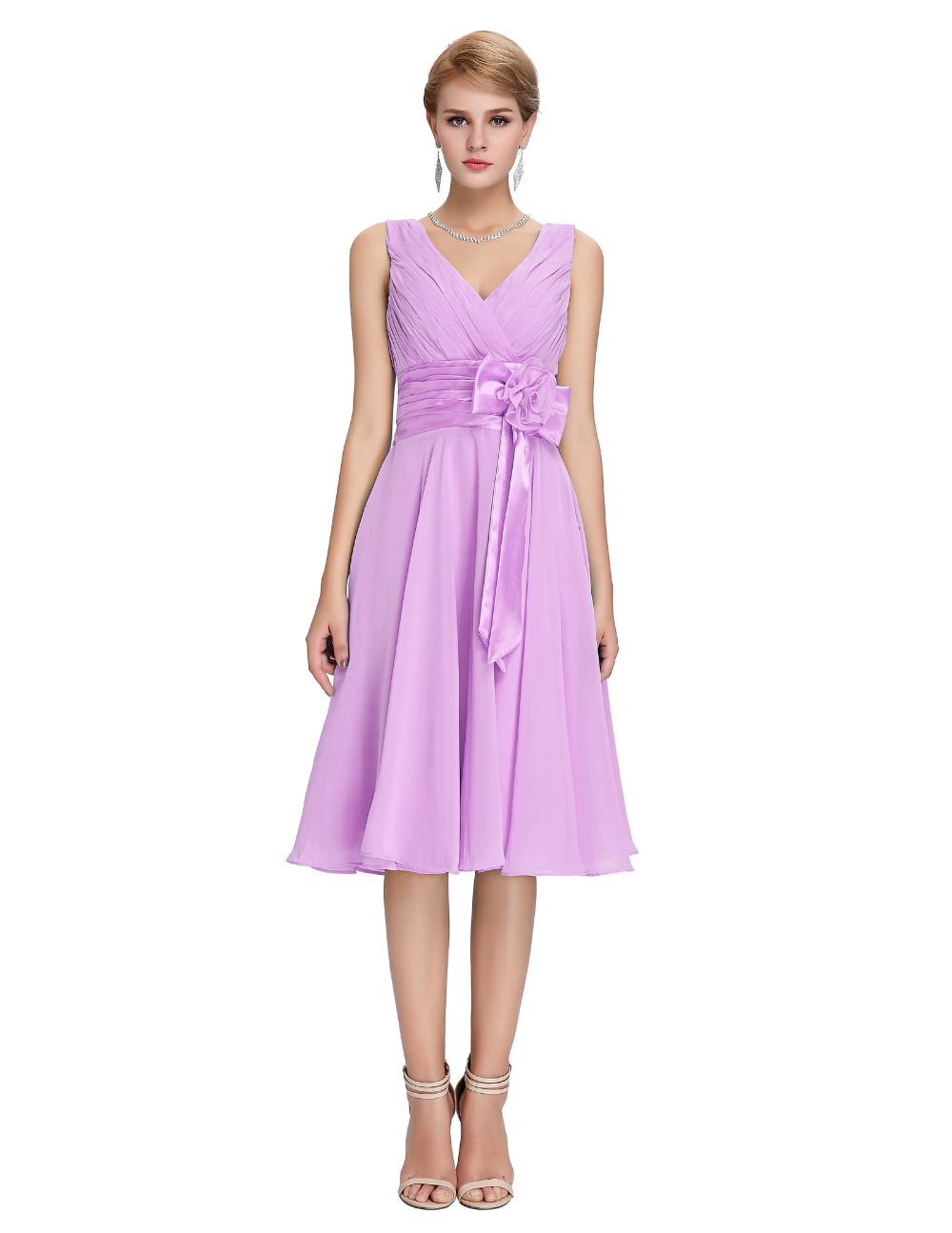 HTB15YYFMVXXXXaUapXXq6xXFXXXSKnee Length Short Chiffon Blue Dress