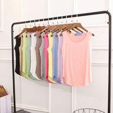 ab64aa63afe86 12 Цветов модные женские туфли майка на бретельках летняя футболка Топы  розовый, синий, желтый