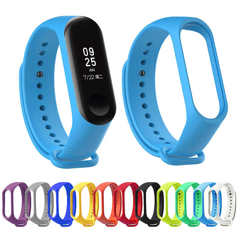 Durable Silicone Watch Belt for Xiaomi Mi Band 3 strap Mi Band 2 straps My Xiomi Mi3 M2 Band2 Band3 Bracelet Wrist Accessories