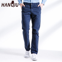 2017 Hot Selling Men Pants Casual Solid Pure Cotton Inelasticity 7Colors Fashion Comfortanble Male Clothing