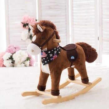 Cheval à bascule Classique en bois enfants