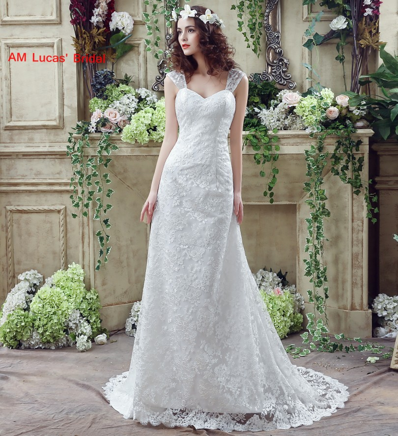 Simple Elegant Lace Wedding Dresses Naf Dresses: Simple Wedding Dress 2018 Bride Gowns Plus Size Tulle Lace