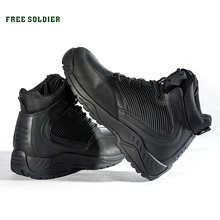 FREE SOLDIER Outdoor Sports Tactical Boots Military Mens Boots For Autumn winter Warmth For Hiking Climbing