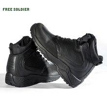 FREIES SOLDAT Im Freien Sport Taktische Stiefel Militärischen männer Stiefel Für Herbst winter Wärme Für Wandern Klettern