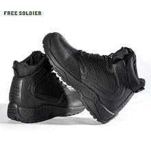 GRATIS SOLDAAT Outdoor Sport Tactische Laarzen Militaire mannen Laarzen Voor Herfst winter Warmte Voor Wandelen Klimmen