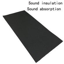 De alta densidad para amortiguar el ruido de sonido de absorción de algodón coche materiales que absorben el sonido de algodón de aislamiento de absorción de audio 100X50 CM