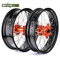 3 5 17 4 25 17 Front Rear MX Supermoto Wheels Rims Hub For KTM SX