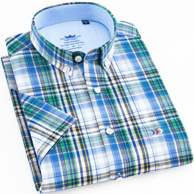 best mens shirt green plaid near me and get free shipping - kff9159a
