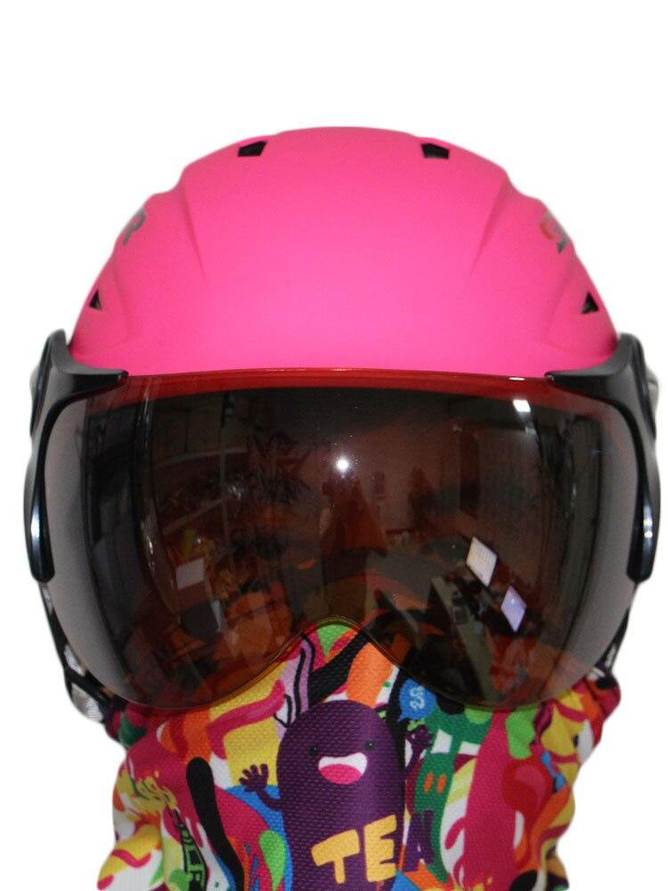 ski helmet +ski goggles ABS CE certificate adult ski open face helmet skate skiing helmets snowboard sport head protection цена