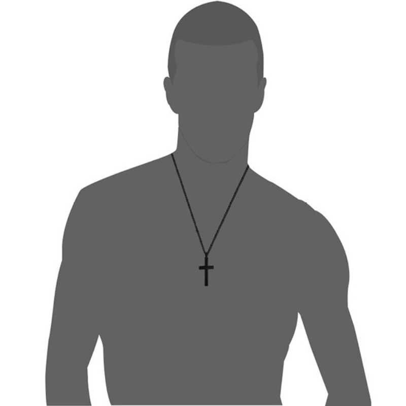 Christian Jesus pojedyncze tytanowe naszyjniki z krzyżem wisiorki kobiety ze stali nierdzewnej złoty srebrny czarny modlitwa Choker mężczyzn biżuteria
