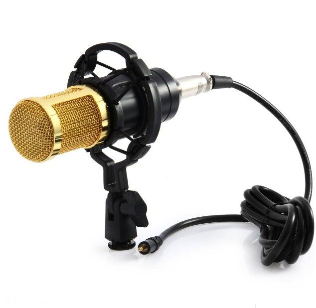BM di Alta Qualità Professionale A Condensatore Microfono di Registrazione del Suono con Shock Mount per la Radio Braodcasting Canto 4 Colore