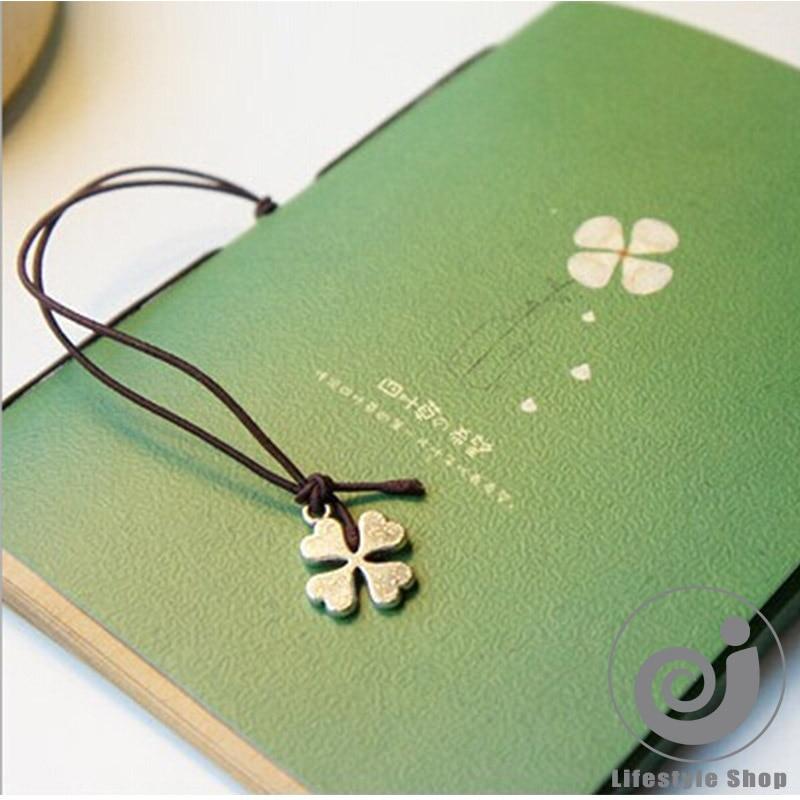 Vintage Clover Lashing Notebook Diary Book Notepad Korean Statinery School Supplies Papelaria Escolar