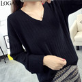Cashmere Sweater Pullover Womens Plus Size V Neck Solid Loose Casual Jumper Women Sweaters And Pullovers 2016 Autumn Winter