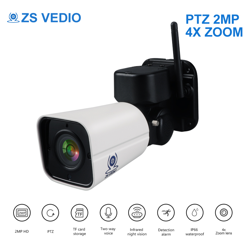 ZSVEDIO Surveillance cameras SONY WIFI PTZ IP Camera 1080P H 265 Cloud Storage 4X Optical Zoom