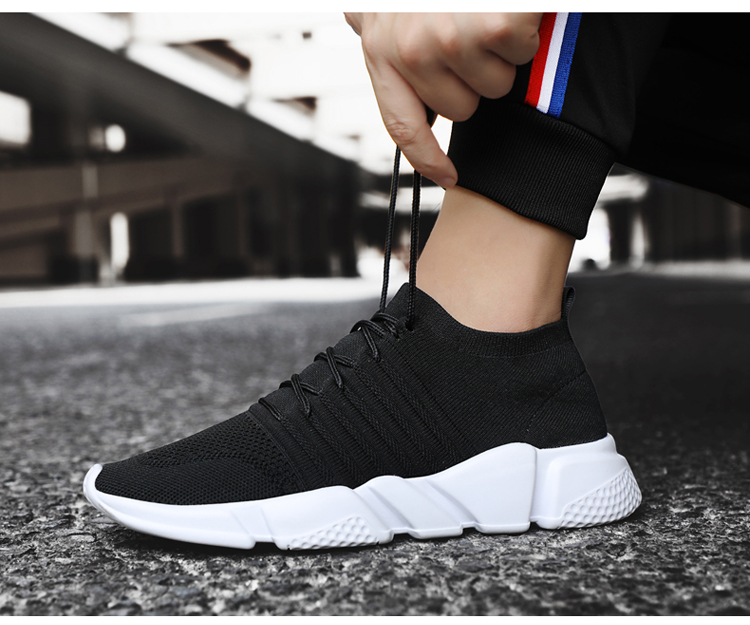 HTB15YZxmaQoBKNjSZJnq6yw9VXah - Men Sneakers Lightweight Flykint Casual Shoes Men Slip On Walking Socks Shoes Trainers Mesh Flat Homme Big Size Tenis Masculino