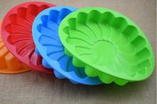 1PC Sunflower Birthday Cake Mold Bread Pizza Baking Tray Silicone DIY Bake Wedding Decoration Tool LB 603