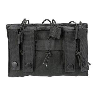 Image 3 - Nowy 1000D Nylon wojskowy Paintball sprzęt taktyczny trzy otwarte Top magazyn damska torba szybka AK M4 Famas worek do przechowywania