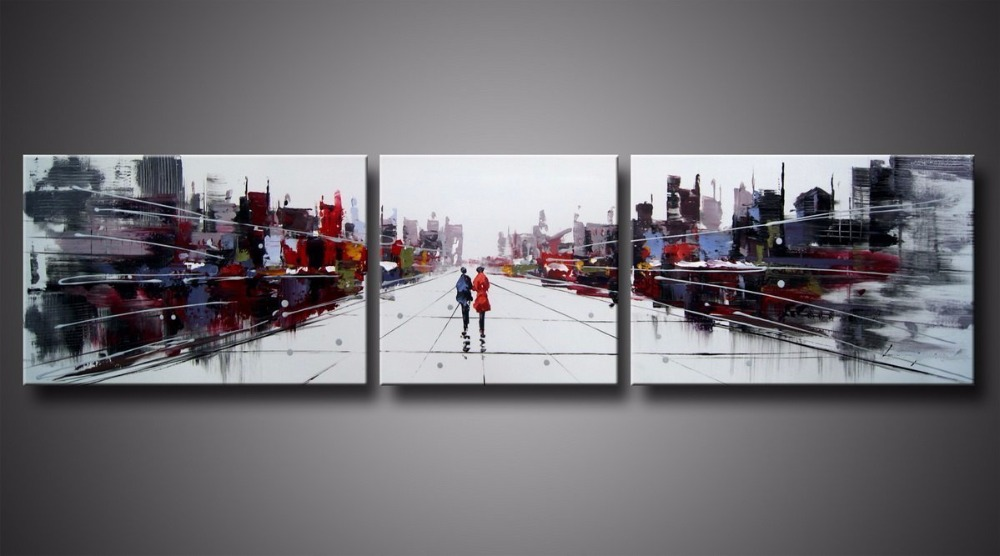Wall Art Abstract Cityscape III Stretched Canvas ready to hang