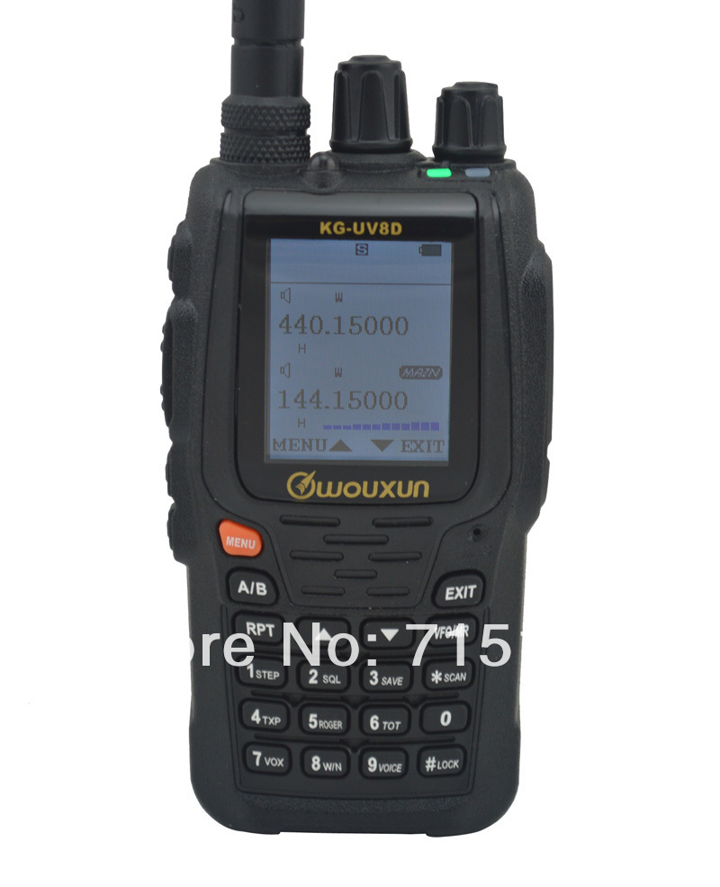 Ny 2015 WOUXUN KG-UV8D VHF & UHF Dual Band To-vejs Radio Wouxun KG UV8D Walkie Talkie Freeship
