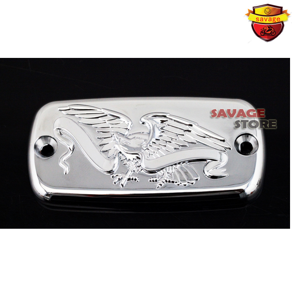 Motorcyle Front Brake Cylinder Reservoir Cover Cap Eagle For HONDA VT400 VT600 VT750 VT1100 Shadow VT1300 VTX1300