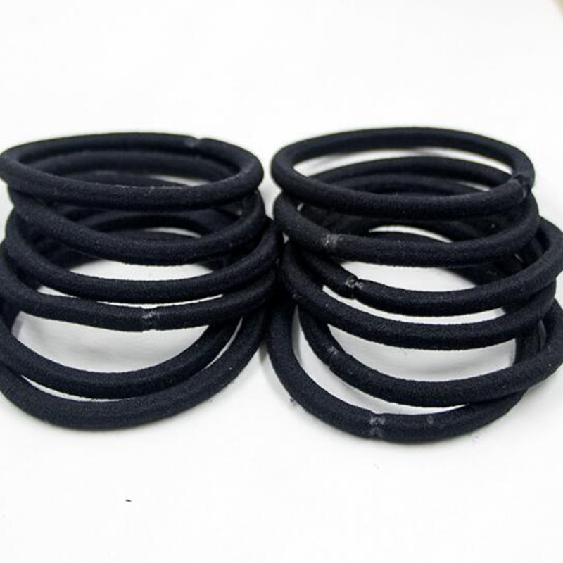 1PCS,2017 Hot Sale Womens Fashion Headwear, Solid Black Color Elastic Hair Bands For Girls, Strong Hair Gum , Good Elasticity