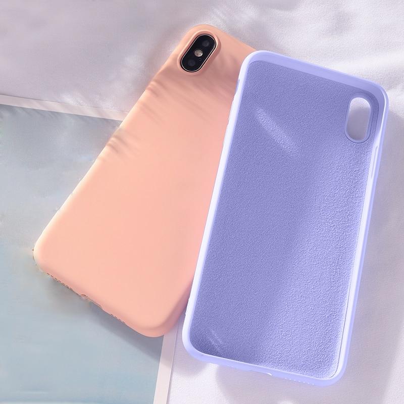 Image 2 - Soft Liquid Silicone Case For Xiaomi Mi 9T Pro Mi9 SE Mi 8 Lite A2 6X Slim Case On Redmi Note 7 Pro Redmi Go Redmi K20 Pro Case-in Fitted Cases from Cellphones & Telecommunications
