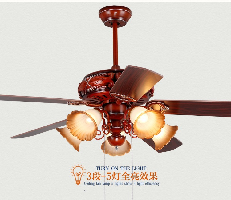 42inch ceiling fan light ceiling fans simple modern bedroom living chinese antique pendant fan light dining room bedroom living room 52inch leaves muted red fan pendant aloadofball Images