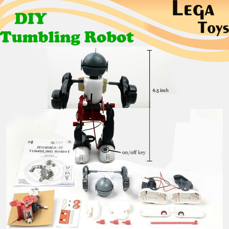 DIY Electric Tumbling Dacing Robot Model 3-Mode Assembly Robot Creative  Science kit Educational Toy For Children