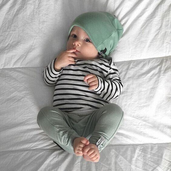 3 STÜCKE Set Newborn Kinder Baby Jungen Mädchen Outfits Kleidung Tops T-Shirts Langarm + Hose Legging + Hut Casual kleidung