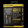 Original nitecore d2 lcd cargador universal para 16340 18650 26650 aa aaa li ion recargable baterías arca